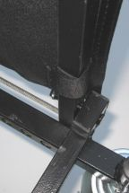 boom apron hook & loop straps to secure bottom corners