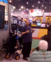 Fred Ginsburg explains about lavaliers at NAB.