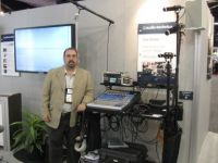 Fred Ginsburg with soundcart at NAB