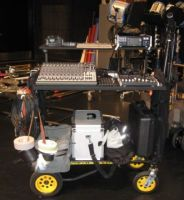 Fred Ginsburg's R12RT-RSMH2 Rock N Roller cart as location soundcart